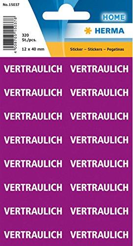 HERMA Textetiketten VERTRAULICH, 12 x 40 mm, lila / weiß