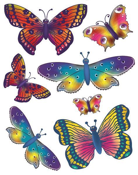 HERMA Fensterbild Schmetterlinge, DIN A4