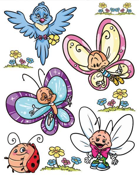 HERMA Fensterbild DECOR Schmetterlingsfamilie & Friends