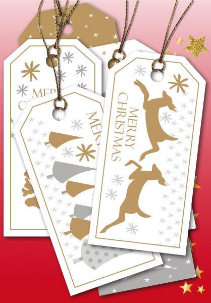 HERMA Weihnachts-Geschenkanhänger Merry Christmas