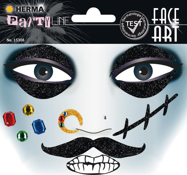 HERMA Face Art Sticker Gesichter Pirat