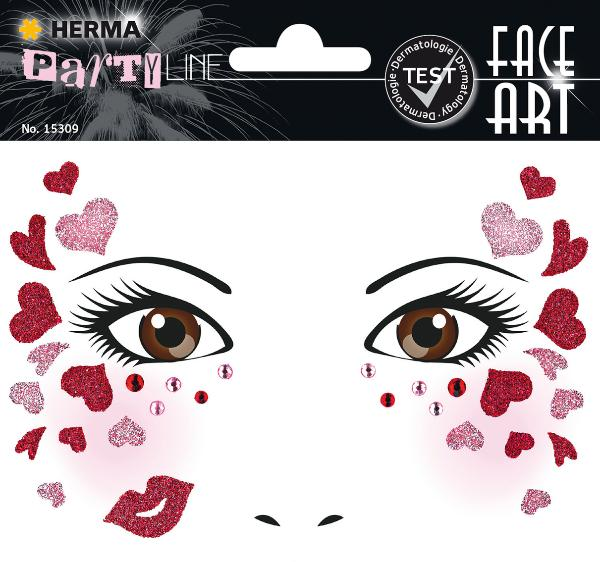 HERMA Face Art Sticker Gesichter Love