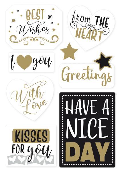 HERMA Geschenkesticker HOME Best Wishes