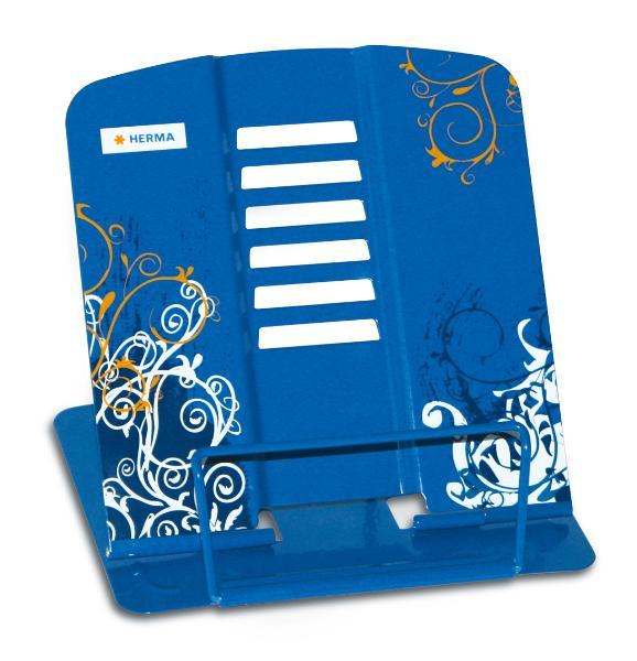 HERMA Leseständer Spirit, aus Metall, blau