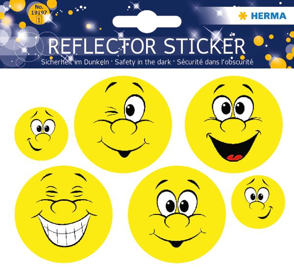 HERMA Reflektorsticker Happy Face