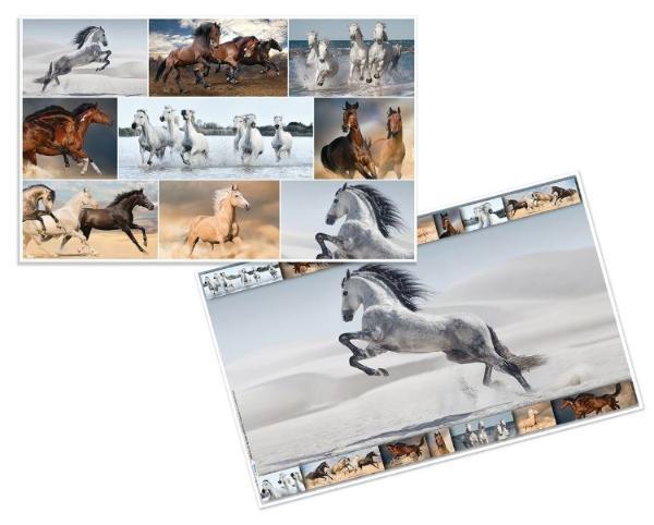 HERMA Schreibunterlage Pferde, (B)550 x (H)350 mm