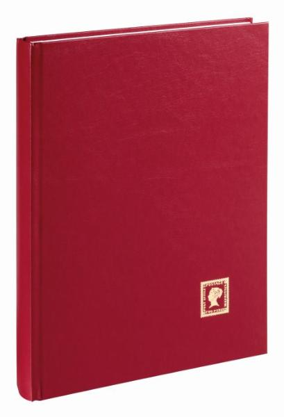 PAGNA Briefmarkenalbum, weinrot, DIN A4, 32 Seiten