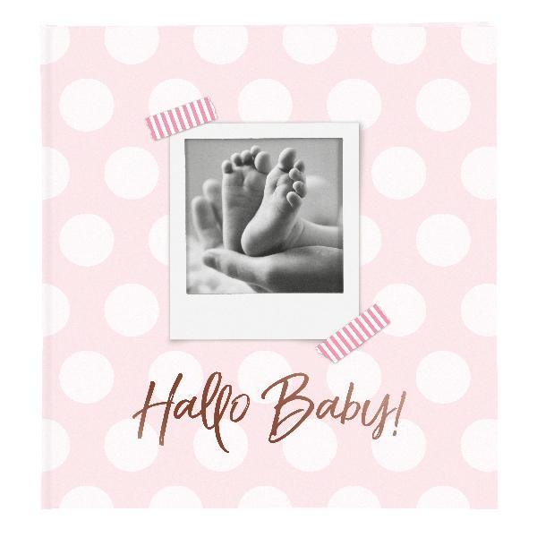GOLDBUCH Fotobuch Baby Hallo Baby rosa