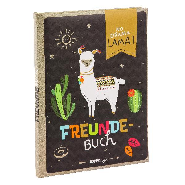 Goldbuch Freundebuch A5 HAPPYlife Lama