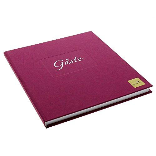 goldbuch Gästebuch Seda, 176 Seiten, brombeere