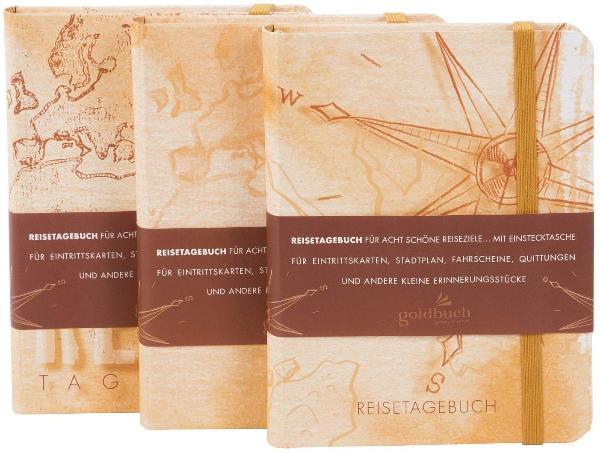 #6xgoldbuch Reisetagebuch, 170 x 230 mm, 200 Seiten, Dis...