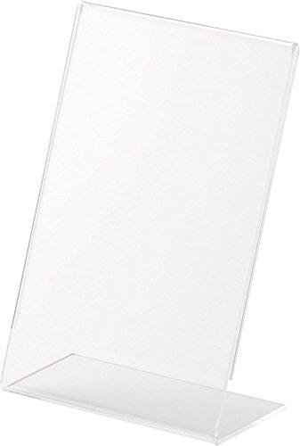helit Tischaufsteller, Acryl, (B)100 x (H)150 mm, schräg