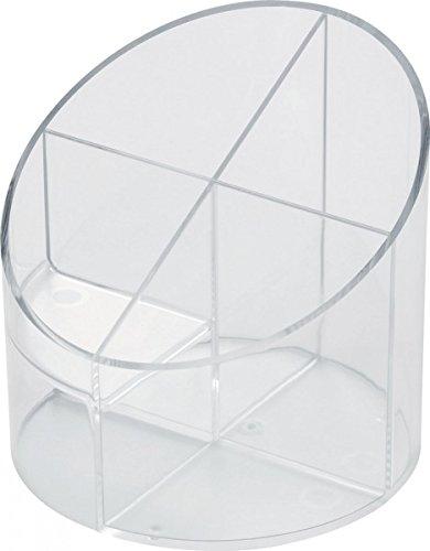 helit Multiköcher Economy Transparent, 4 Fächer, glasklar
