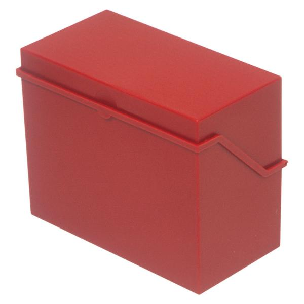 helit Klein-Karteikasten A5 quer, rot, unbestückt