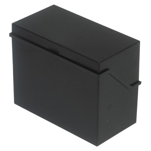 helit Klein-Karteikasten A6 quer, schwarz, unbestückt