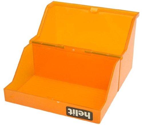 helit Klein-Karteikasten Transluzent, A7 quer, orange