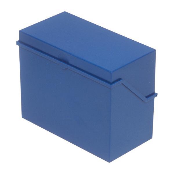 helit Klein-Karteikasten A6 quer, blau, unbestückt