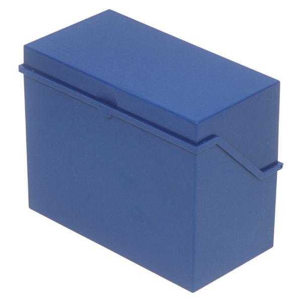helit Klein-Karteikasten A7 quer, blau, unbestückt