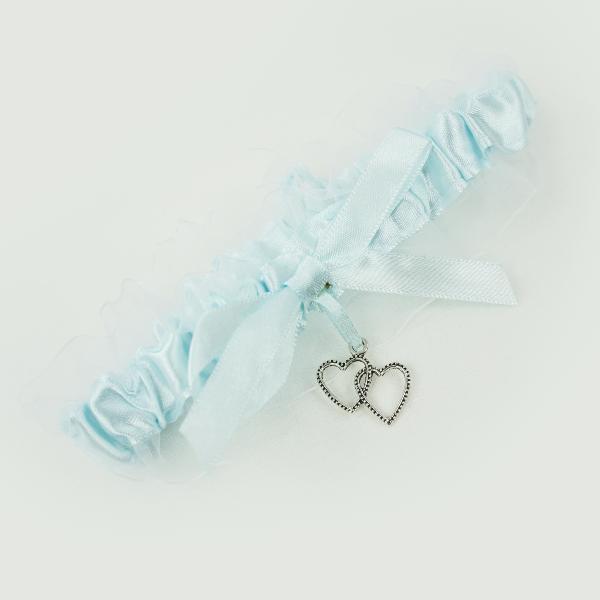Strumpfband hellblau Einheitsgröße
