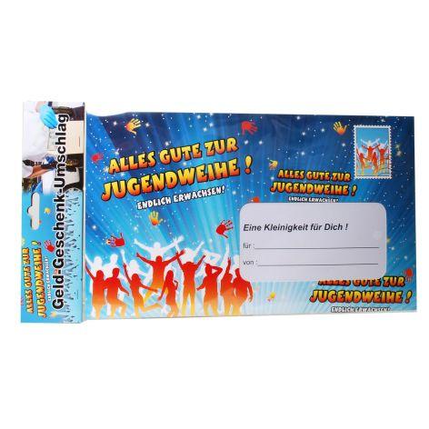 Umschlag für Geldgeschenk Zur Jugendweihe 30x18cm
