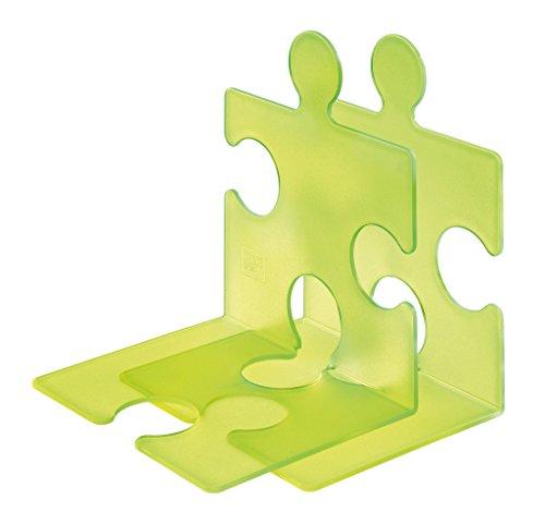 HAN Buchstütze PUZZLE, 2er Set, grün-signal