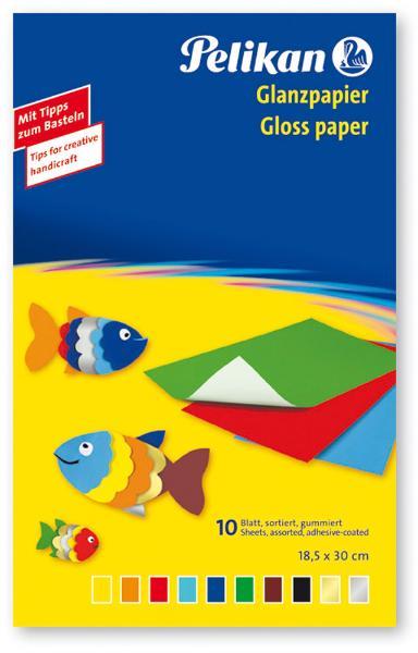 #10xGlanzpapier 30x18cm gummiert