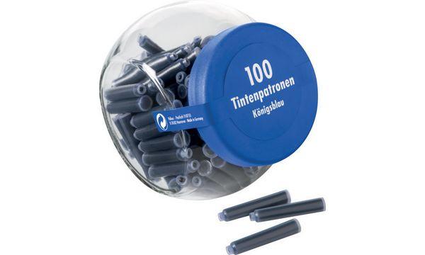 #10xPELIKAN Tintenpatrone im Glas blau