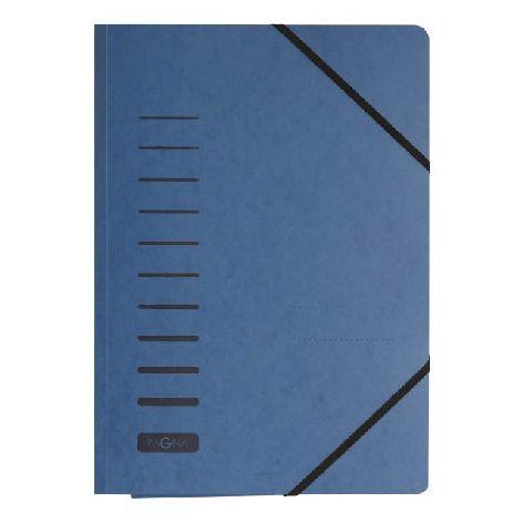 Gummizugmappe A4 Pressspan blau mit Eckspanngummi und 3 ...