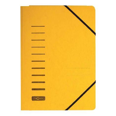 Gummizugmappe A4 Pressspan gelb mit Eckspanngummi und 3 ...