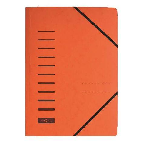 Gummizugmappe A4 Pressspan orange mit Eckspanngummi und ...