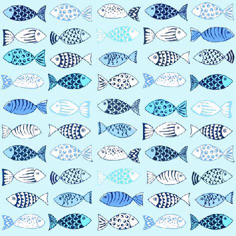 Serviette 33x33cm Atelier Many Fishes