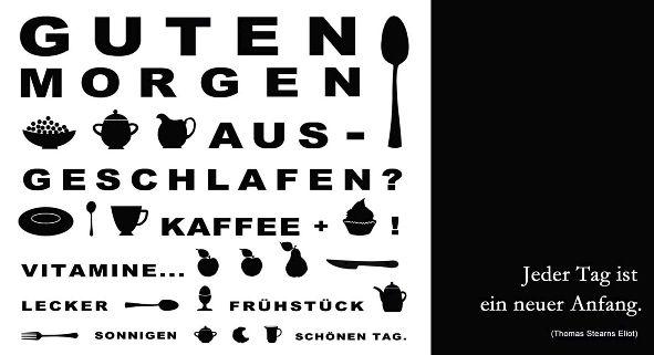 Postkarte Allgemein Maxi 23 x 11,5cm Good Morning Schrif...