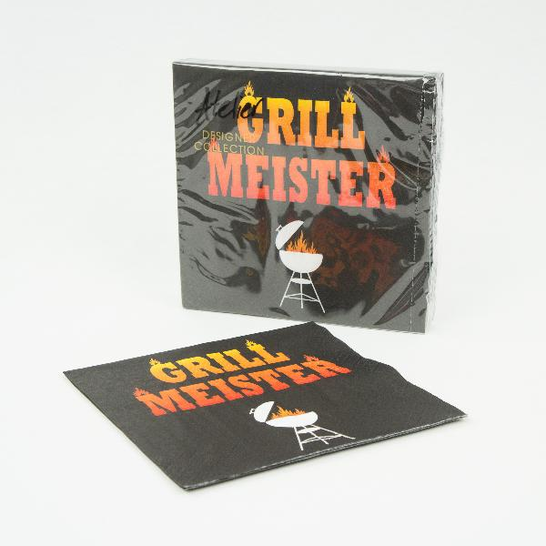 20x Motivserviette Grillmeister 33x33cm Motivserviette B...