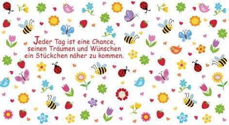Postkarte Allgemein Maxi 23x11,5cm Bienen Marienkäfer Bl...