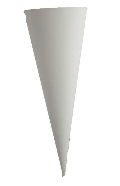 Schultüten Rohling Geschwisterschultüte weiß 350 mm rund