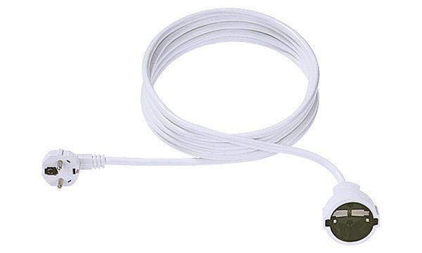 BACHMANN Schutzkontakt Stromverlängerungskabel, 3,0 m, weiß
