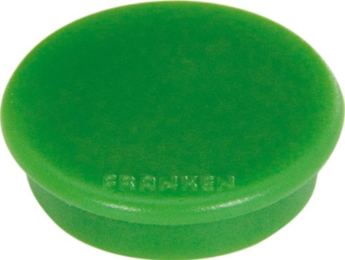 FRANKEN Haftmagnet, Haftkraft: 100 g, Durchm. 13 mm, grün