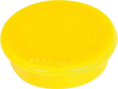 FRANKEN Haftmagnet, Haftkraft: 100 g, Durchm. 13 mm, gelb