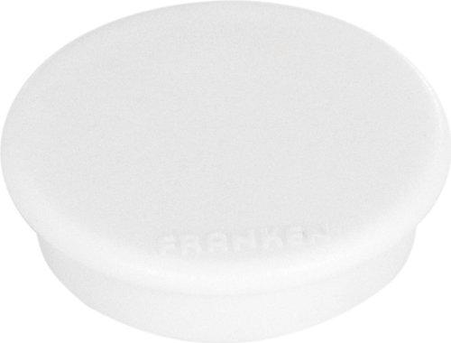 FRANKEN Haftmagnet, Haftkraft: 100 g, Durchm. 13 mm, weiß