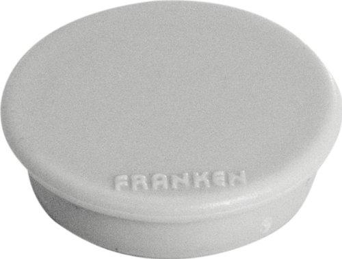 FRANKEN Haftmagnet, Haftkraft: 100 g, Durchm. 13 mm, grau