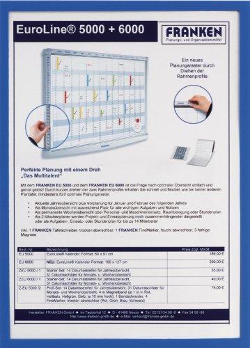 FRANKEN Magnet-Tasche FRAME IT X-tra!Line, DIN A3, blau