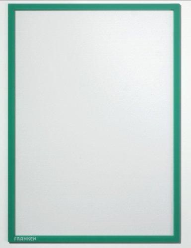 FRANKEN Magnet-Tasche FRAME IT X-tra!Line, DIN A4, grün