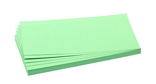 FRANKEN Moderationskarte, 95 x 205 mm, selbsthaftend, grün