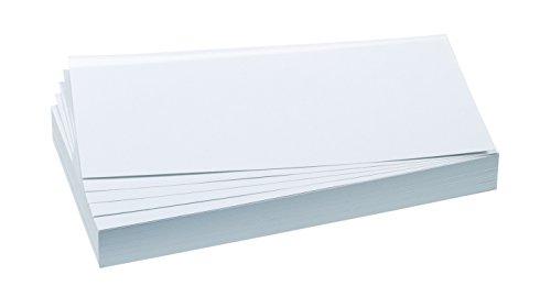 FRANKEN Moderationskarte, 95 x 205 mm, selbsthaftend, weiß