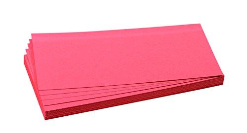 FRANKEN Moderationskarte, 95 x 205 mm, selbsthaftend, rot