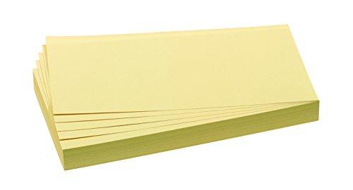 FRANKEN Moderationskarte, 95 x 205 mm, selbsthaftend, gelb