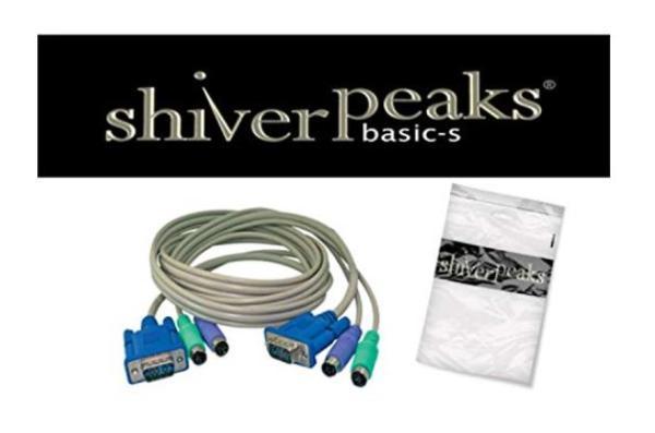 shiverpeaks BASIC-S KVM Kabel-Set für PS/2, 1,8 m