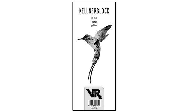 #10xVIKTOR RICHTER Kellnerblock 70 x 148 mm, holzfrei, g...
