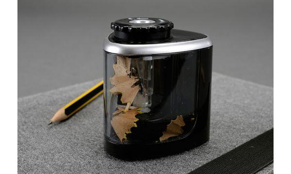 bind elektrischer Spitzer Kunststoff transparent-schwarz