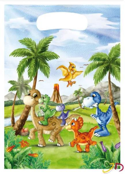 Partytüte 10 Stück Dinosaurier